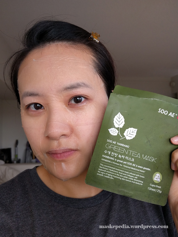 Soo Ae Hanbang Green Tea Collagen Mask