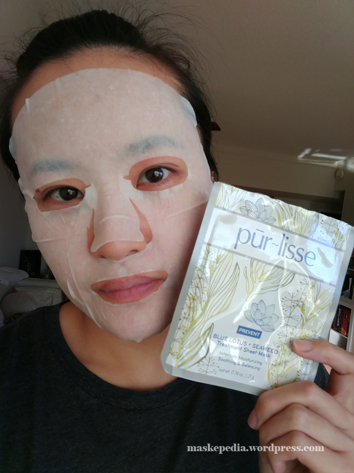 pur~lisse Blue Lotus + Seaweed Treatment Sheet Mask