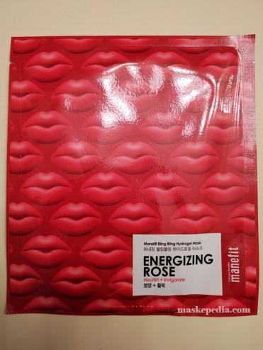 Manefit Bling Bling Hydro Gel Mask in Energizing Rose