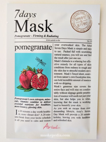 Ariul 7 Days Mask in Pomegranate
