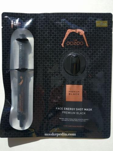 Oozoo Face Energy Shot Mask Premium Black