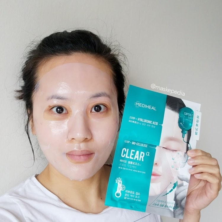 Mediheal Capsule 100 Bio Seconderm Clear Hyaluronic Acid Mask