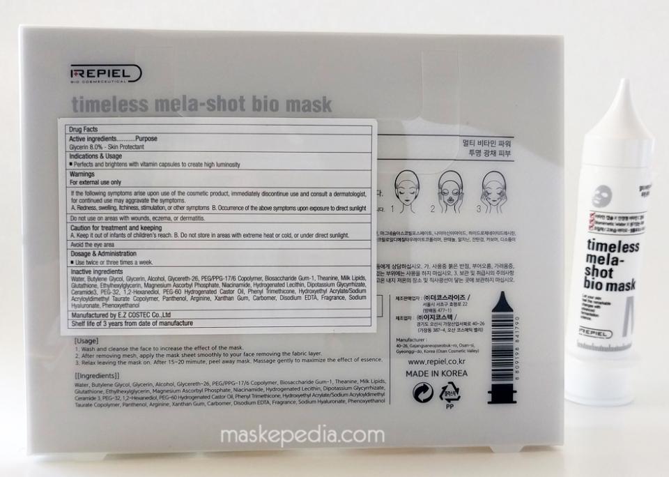 Repiel Timeless Mela-Shot Bio Mask