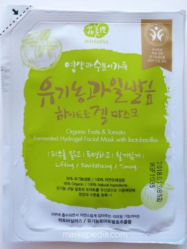 Whamisa Organic Fruits & Tomato Fermented Hydrogel Sheet Mask