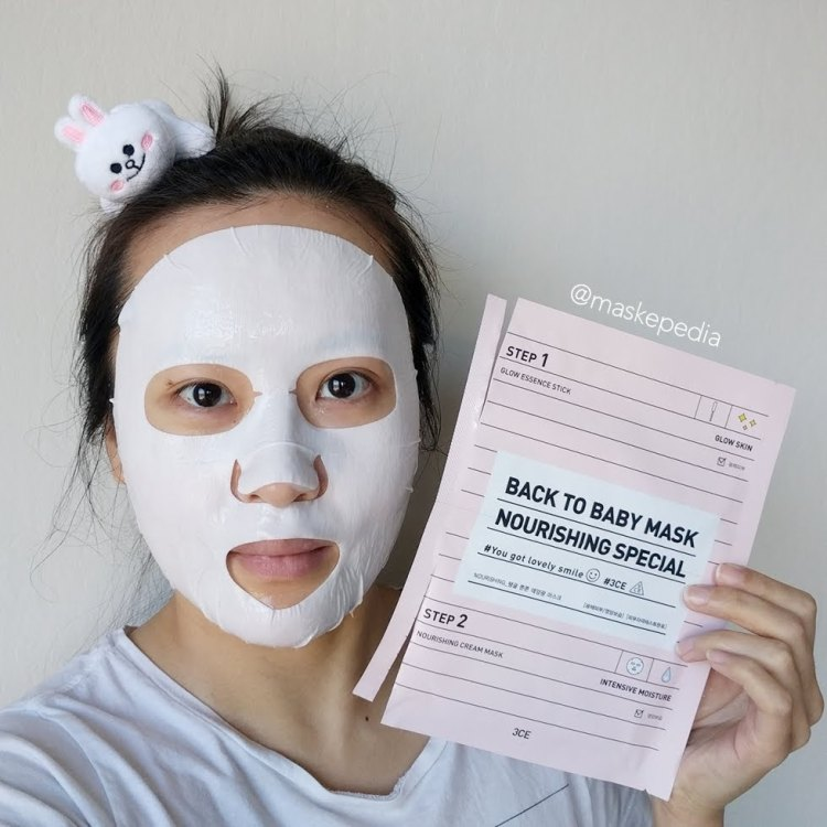 3CE Back to Baby Mask - Nourishing Special