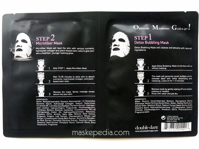 Double Dare 2-in-1 Kit Detox Bubbling Microfiber Mask