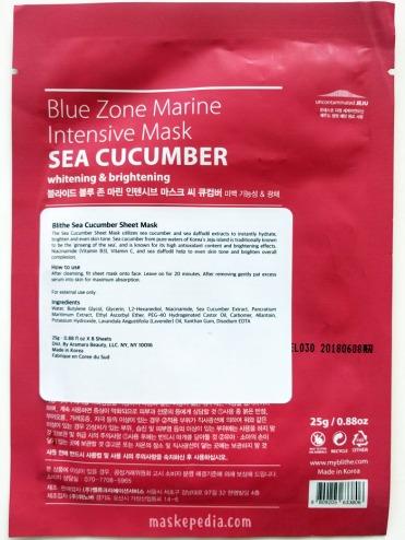 Blithe Blue Zone Marine Intensive Mask Sea Cucumber