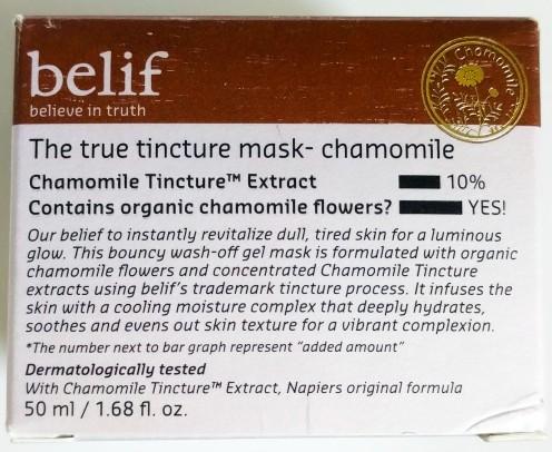 Belif The True Tincture Mask - Chamomile
